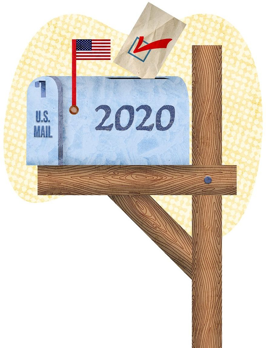 2020 Mail Ballot Illustration by Greg Groesch/The Washington Times