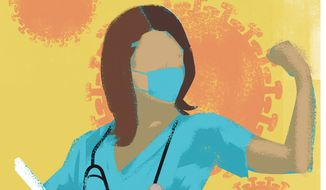 Physician assistants on the front lines illustration by Linas Garsys / The Washington Times