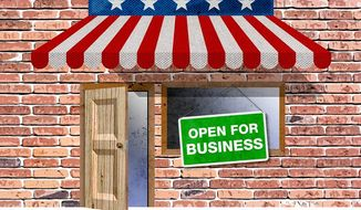 Open for Business Illustration by Greg Groesch/The Washington Times