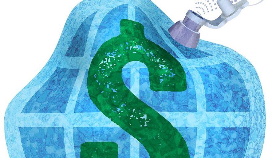 Global Deflation Illustration by Greg Groesch/The Washington Times
