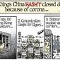 3 things China hasn't closed down because of corona ... (Illustration by Alexander Hunter for The Washington Times)