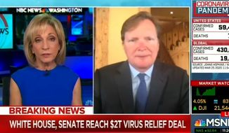 MSNBC anchor Andrea Mitchell discusses the public's reaction to President Trump's coronavirus briefings, March 25, 2020. (Image: MSNBC screenshot)