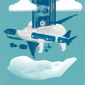 Illustration on Federal assistance to Boeing by Linas Garsys/The Washington Times