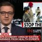 """MSNBC host Chris Hayes declared President Trump a """"genuine threat to public health"""" Tuesday night, March 24, 2020, and refused to air his comments from earlier in the day concerning the coronavirus pandemic."""
