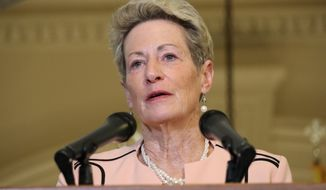 Maryland's State Superintendent of Schools Karen Salmon announced that Maryland's public schools will be closed another four weeks through April 24 in response to the new coronavirus during a news conference on Wednesday, March 25, 2020 in Annapolis, Md. (AP Photo/Brian Witte)