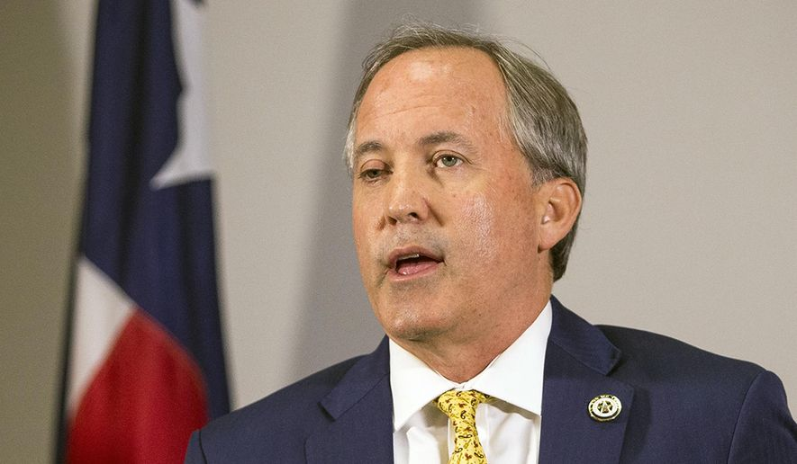 In this May 1, 2018, file photo, Texas Attorney General Ken Paxton speaks at a news conference in Austin, Texas.  (Nick Wagner/Austin American-Statesman via AP, File) **FILE**