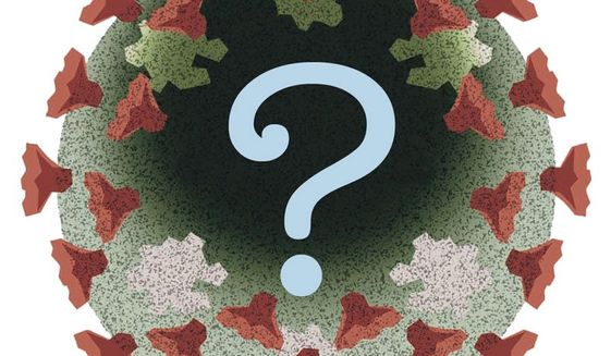 Illustration on question on the coronavirus by Alexander Hunter/The Washington Times
