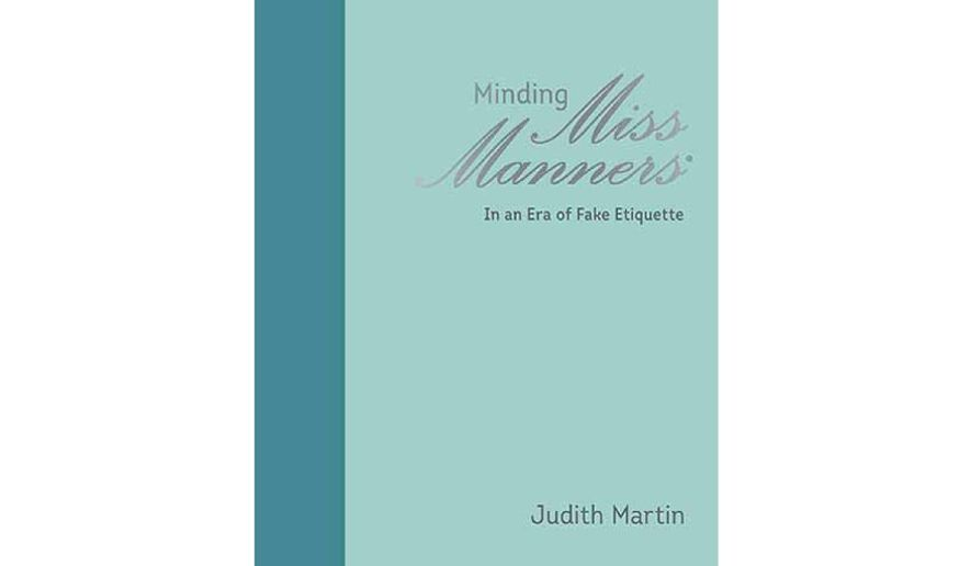 'Minding Miss Manners' (book cover)