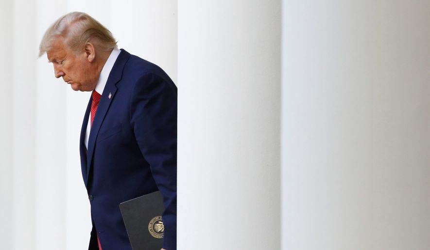 The progress of a trade deal between the U.S. and China could mark an economic bright spot for President Trump among plunging stock markets and mass layoffs. (ASSOCIATED PRESS)