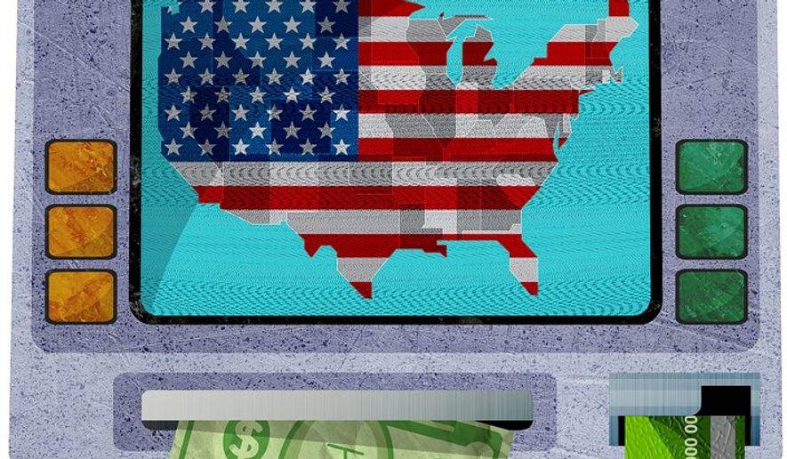Bank of USA Illustration by Greg Groesch/The Washington Times