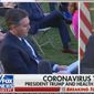 In this file photo from March 30, 2020, CNN's Jim Acosta questions President Trump on his handling of the coronavirus pandemic. (Image: Fox News video screenshot)  **FILE**