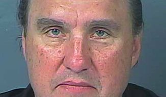This Monday, March 30, 2020, booking photo provided by the Hernando County Jail shows Rodney Howard-Browne, pastor of The River Church. Florida officials arrested the pastor of the megachurch after detectives say he held two Sunday services with hundreds of people and violated a safer-at-home order in place to limit the spread of the coronavirus. According to jail records, Pastor Rodney Howard-Browne turned himself in to authorities Monday, March 30, 2020, in Hernando County, Fla. (Hernando County Jail via AP)   **FILE***