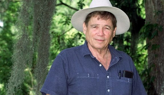"** FILE ** Novelist James Lee Burke poses near his home in New Iberia, La., in this April 27, 2001 file photo.  Burke's new book, the 15th novel in the series featuring detective-hero Dave Robicheaux, ""Pegasus Descending,"" is being published by Simon & Schuster.(AP Photo/Brad Kemp)"
