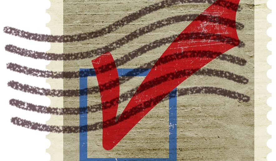 Cancelled Mail Vote Illustration by Greg Groesch/The Washington Times