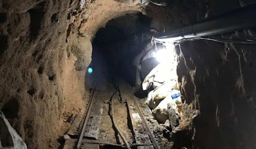 The tunnel runs more than 2,000 feet underground from a warehouse in Tijuana, Mexico, to a warehouse in Otay Mesa, California. (Source: DEA)