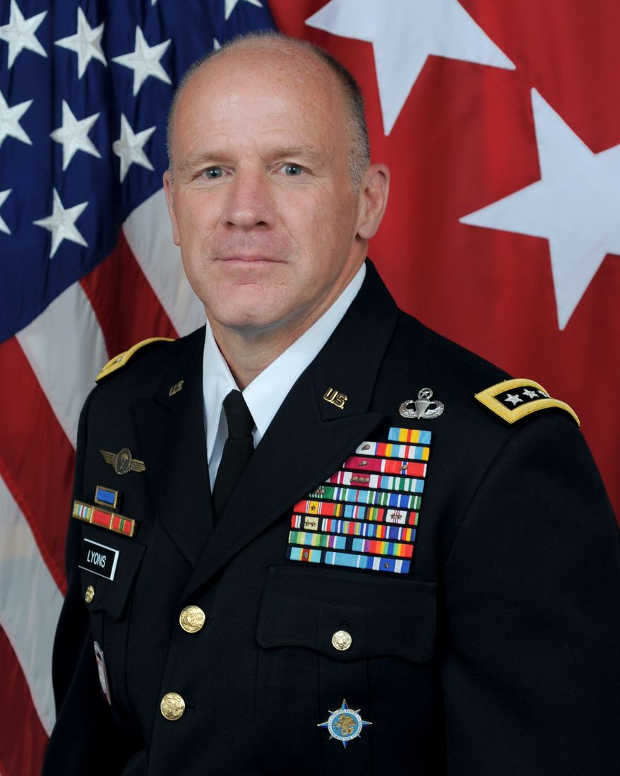 Gen. Stephen Lyons, U.S. Army, the commander of the U.S. Transportation Command, is shown here in his official photo from the Department of Defense website. (Defense.gov) [https://www.defense.gov/Our-Story/Biographies/Biography/Article/1634193/general-steve-lyons/]