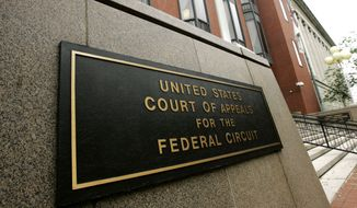 The U.S. Court of Appeals for the Federal Circuit in Washington is seen here on Wednesday, Aug. 22, 2007. (AP Photo/Haraz N. Ghanbari) **FILE**