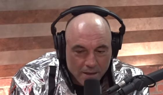 """Podcasting star Joe Rogan talks about the media's treatment of President Trump in an interview with Brian Redban uploaded to YouTube March 31, 2020. (Image: YouTube, official """"Joe Rogan Experience Clips,"""" video screenshot)"""