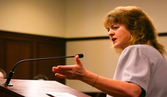 Idaho state Rep. Barbara Ehardt, R-Idaho Falls, speaks in favor of the Fairness in Women's Sports Act at a March 6, 2020, hearing of the Senate State Affairs Committee. (Photo by Sami Edge used with the permission of Idaho Education News)