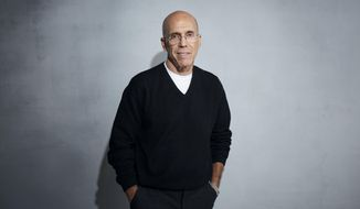"""Jeffrey Katzenberg poses for a portrait to promote """"Quibi"""" at the Music Lodge during the Sundance Film Festival on Friday, Jan. 24, 2020, in Park City, Utah. (Photo by Taylor Jewell/Invision/AP)"""