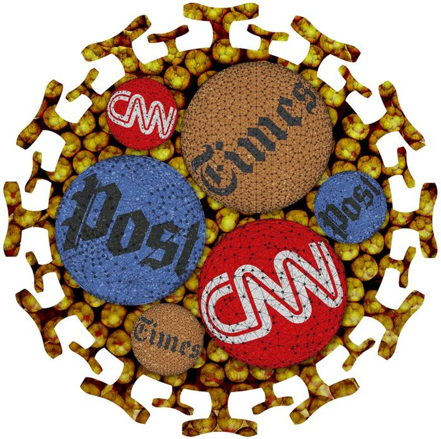 Media Virus Illustration by Greg Groesch/The Washington Times