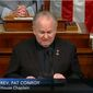 The Rev. Patrick J. Conroy and other clergy are now offering daily prayer in Congress, seeking help during the coronavirus pandemic. (Image courtesy of C-SPAN)