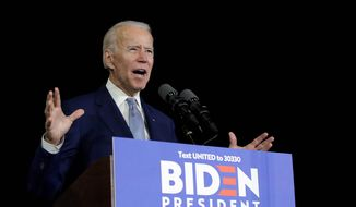 One Republican analyst now suggests that Democratic presidential candidate Joe Biden is rewriting history to benefit his campaign. (Associated Press)