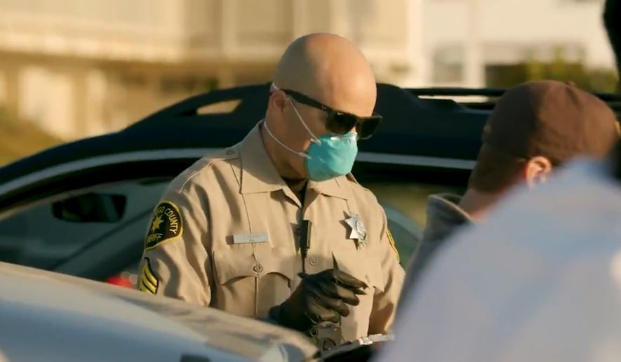 San Diego citizens face citations up to $1,000 for violating California's stay-at-home order regarding the coronavirus pandemic. (Image: Twitter, San Diego County Sheriff's Department, video screenshot, April 4, 2020)
