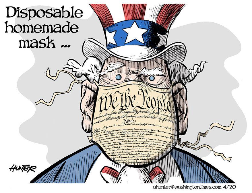 Illustration by Alexander Hunter for The Washington Times (published April 7, 2020)