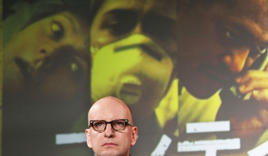 "Film director Steven Soderbergh attends a press conference for his latest film ""Contagion"" in Tokyo, Thursday, Nov. 10, 2011. (AP Photo/Koji Sasahara)"