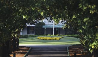 Augusta National Golf Club is shown on what would've been the first practice round for the Masters, Monday, April 6, 2020, in Augusta, Ga. (Curtis Compton/Atlanta Journal-Constitution via AP)  **FILE**