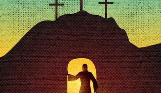 He Is Risen Illustration by Greg Groesch/The Washington Times