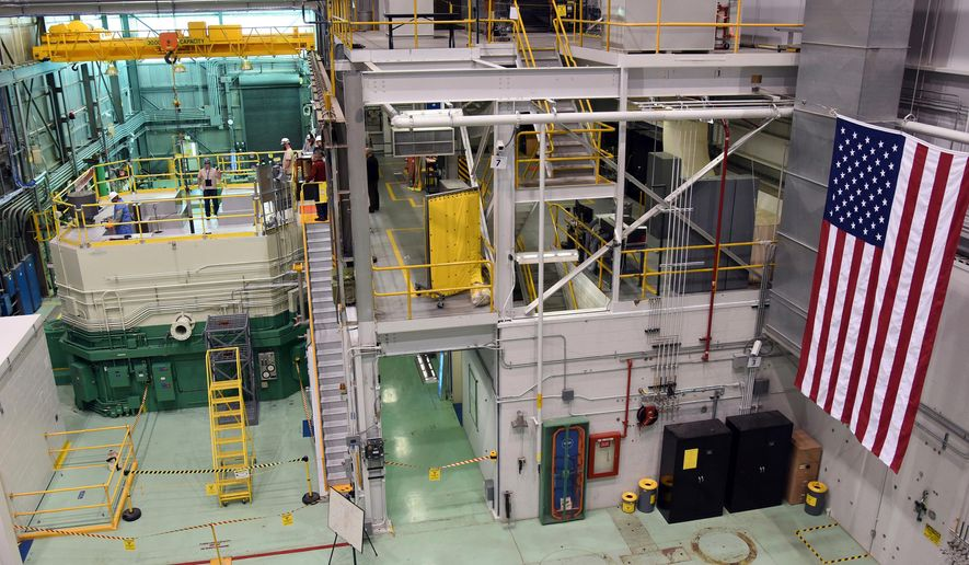 FILE - This Nov. 14, 2017, file photo, provided by the Idaho National Laboratory, shows the Idaho National Laboratory Transient Reactor Test Facility in Idaho Falls, Idaho. The U.S. Department of Defense wants to build a prototype advanced mobile nuclear microreactor at the Idaho National Laboratory in eastern Idaho. Comments are being taken through April 30, 2020, to determine the scope of an environmental impact statement on the plan aimed at building microreactors the department says are needed to ensure the military's energy supply. (Chris Morgan/Idaho National Laboratory via AP, File)