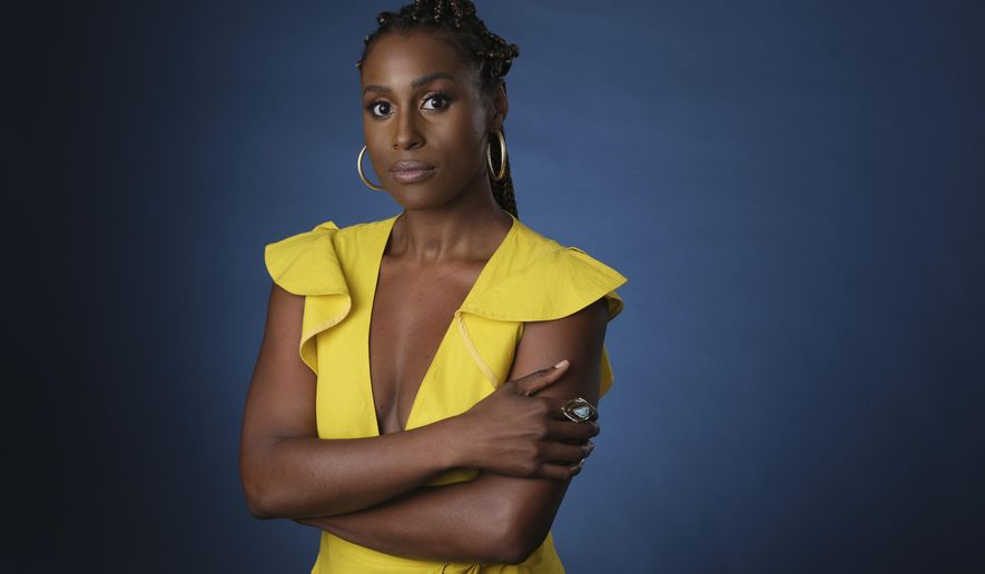 """FILE - This July 24, 2019 file photo shows Issa Rae, an executive producer of the HBO comedy series """"A Black Lady Sketch Show,"""" during the 2019 Television Critics Association Summer Press Tour in Beverly Hills, Calif. The fourth season of Rae's show""""Insecure,"""" premieres Sunday on HBO. (Photo by Chris Pizzello/Invision/AP, File)"""