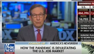 Fox News anchor Chris Wallace discusses the 2020 presidential election, April 10, 2020. (Image: Fox News video screenshot)