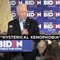 "President Donald Trump's 2020 campaign released its ""Biden Stands Up For China"" ad, April 9, 2020. (Image: YouTube, Donald J Trump, video screenshot)"