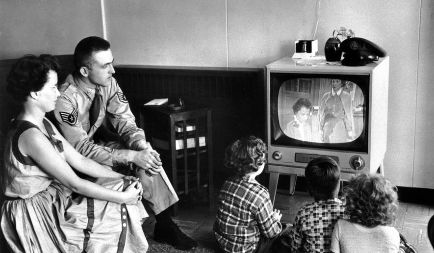 """The Parents Television Council has called on the major television networks to consider the immediate restoration of the """"Family Hour"""" to their nightly programming schedules now that more families are stuck at home and migrated back to """"linear TV."""" (ASSOCIATED PRESS)"""