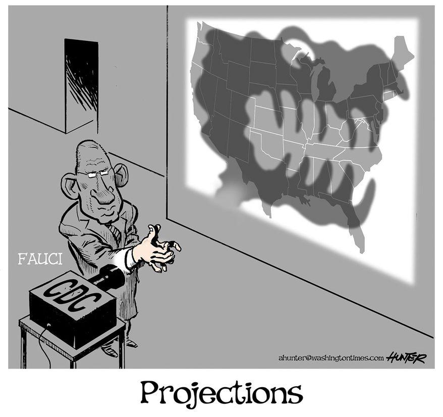 Illustration by Alexander Hunter for The Washington Times (published April 15, 2020)