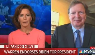 """MSNBC's Stephanie Ruhle discusses the possibility of former Vice President Joe Biden forming a """"shadow government"""" to rhetorically combat President Trump leading up to the 2020 election, April 15, 2020. (Image: MSNBC screenshot)"""