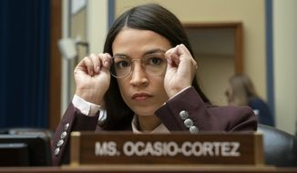 Rep. Alexandria Ocasio-Cortez, D-N.Y., attends a House Oversight Committee hearing on Capitol Hill in Washington, July 26, 2019. (AP Photo/J. Scott Applewhite)  ** FILE **