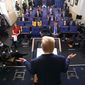CNN and MSNBC have repeatedly cut in and out of President Trump's daily coronavirus task force briefings in favor of derisive commentary. (Associated Press)