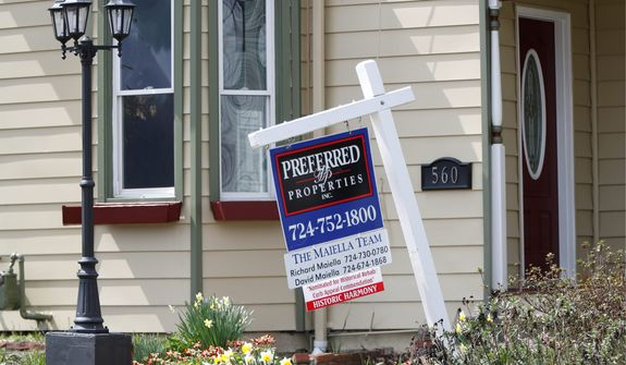 New home listings were down 27% nationwide in the first week of April, compared to a year ago. The spring should be the peak season for home shopping. (Associated Press)