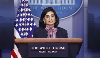 Administrator of the Centers for Medicare and Medicaid Services Seema Verma speaks during a coronavirus task force briefing at the White House, Sunday, April 19, 2020, in Washington. (AP Photo/Patrick Semansky)