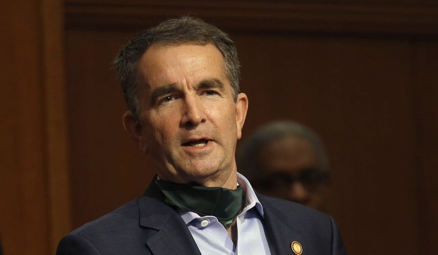 Ralph Northam scratches Virginia field hospital plans - Washington ...