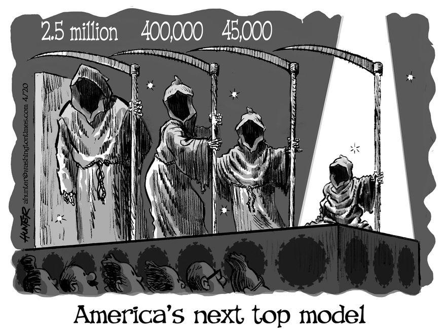 Illustration by Alexander Hunter for The Washington Times (published April 21, 2020)