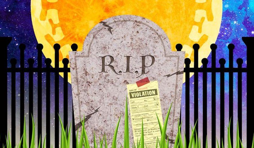 Grass Violation Illustration by Greg Groesch/The Washington Times