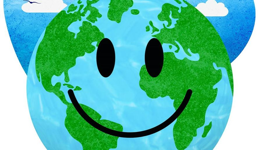Smiley Earth for Earth Day Illustration by Greg Groesch/The Washington Times
