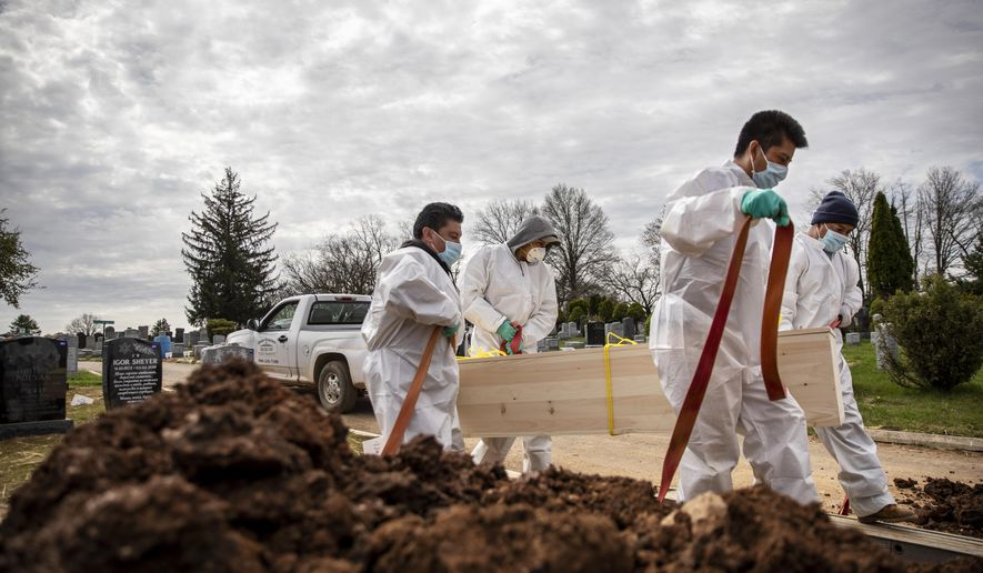 Cemetery Races To Keep Up As New York Virus Deaths Mount Washington Times