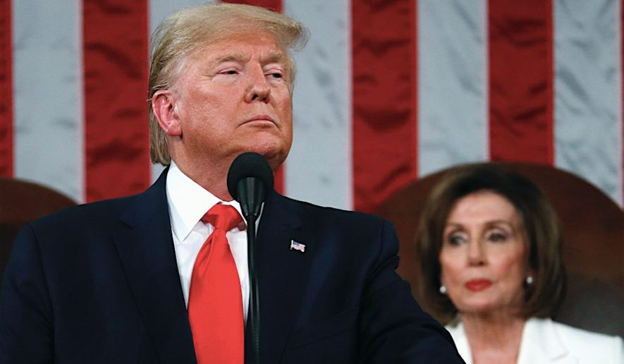 President Trump's reelection campaign is nimble and precise, recently skewering a late-night appearance by House Speaker Nancy Pelosi. (Associated Press)