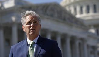 House Minority Leader Kevin McCarthy of Calif., speaks during at a news conference, Wednesday, April 22, 2020, on Capitol Hill in Washington. (AP Photo/Patrick Semansky) **FILE**